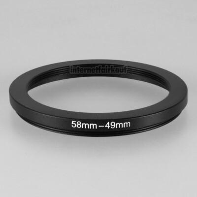 58-49mm Adapterring Filteradapter