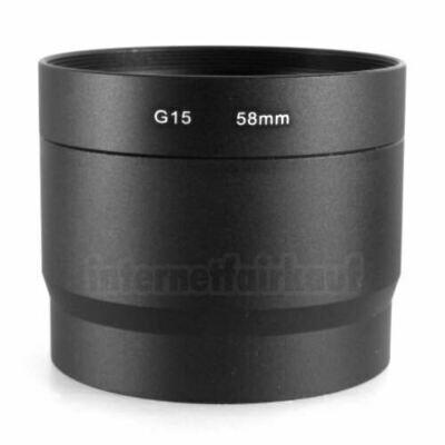 Adapter Tubus für Canon Powershot G16 G15 - 58mm 2-teilig