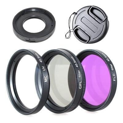 Zubehörset passend für Olympus TG1 TG2 TG3 TG4 TG5 TG6 - 3 Filter Adapter
