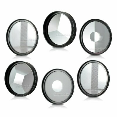 77mm 6-fach Set Spezial Effekt Filter Effektfilter Effektlinsen