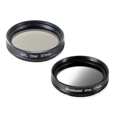 Pol + Grauverlaufsfilter 37mm, schwarz