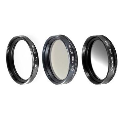 UV + Pol + Grauverlaufsfilter 37mm, schwarz