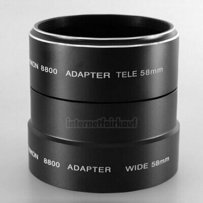 Adapter Tubus für Nikon Coolpix 8800 58mm