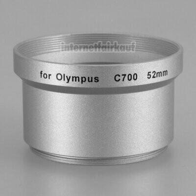 Adapter Tubus für Olympus C-700 Serie, 52mm silber