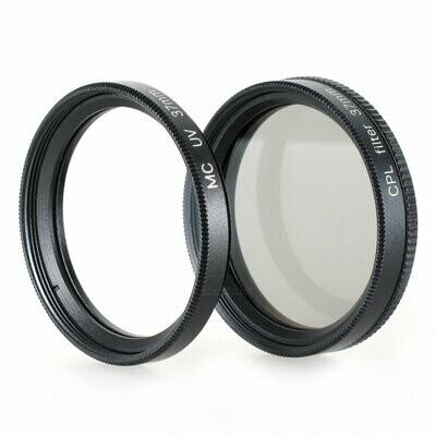 UV + Pol Filter 37mm, schwarz