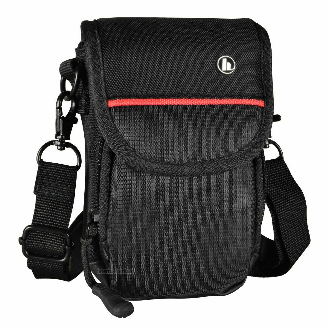Fototasche schwarz/rot passend für Sony DSC-HX50 HX50V HX60 HX60V