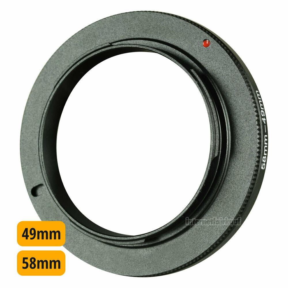 Umkehrring Retro-Adapter für 58mm passend für Sony E-Mount NEX und ILCE Kameras