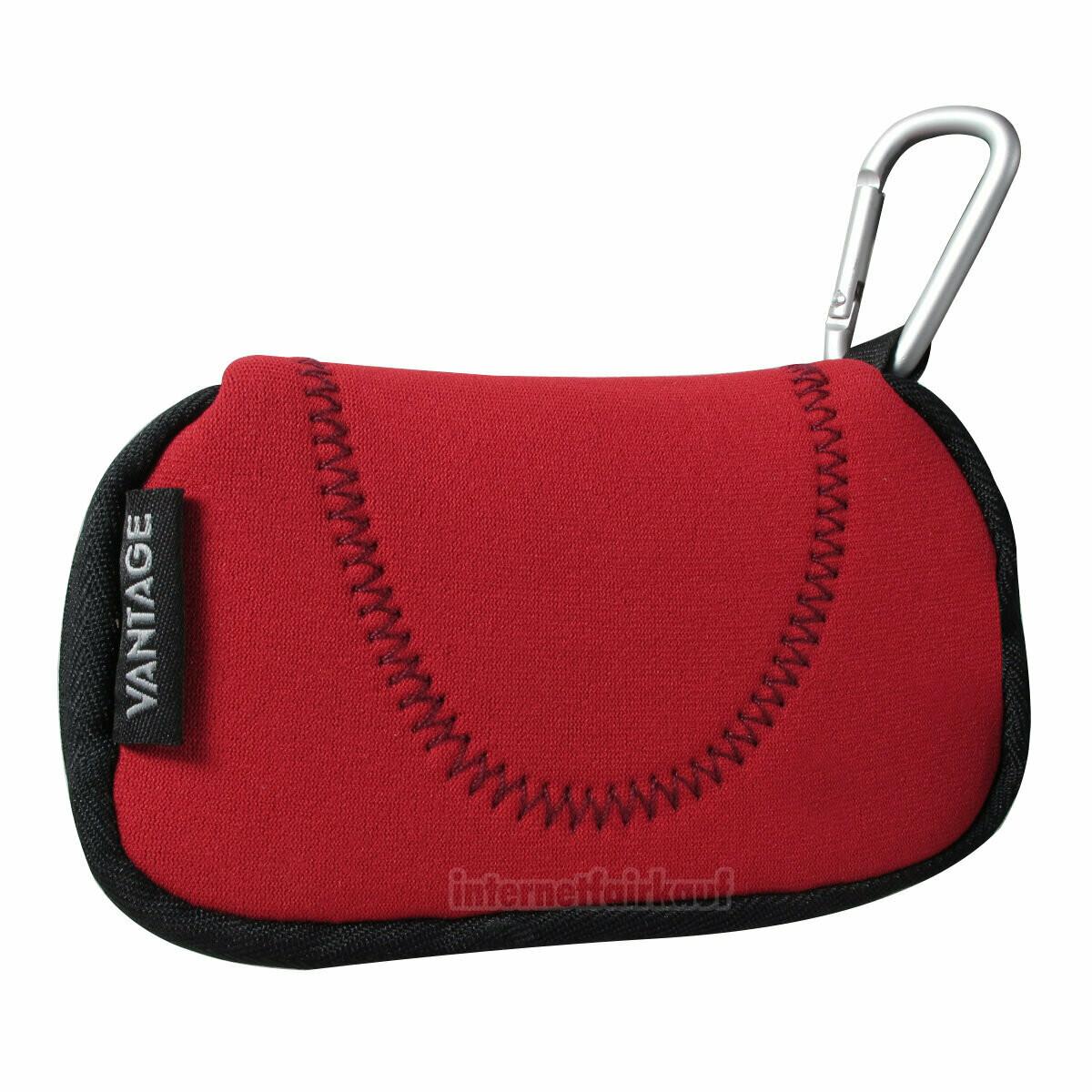 Kameratasche Etui Hülle rot passend für Pentax Optio WG20