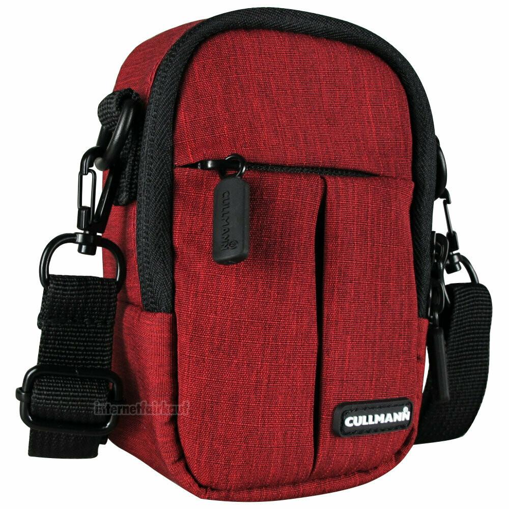 Gürteltasche Kameratasche rot passend für Panasonic Lumix DMC-TZ81 TZ91 - Foto-Tasche