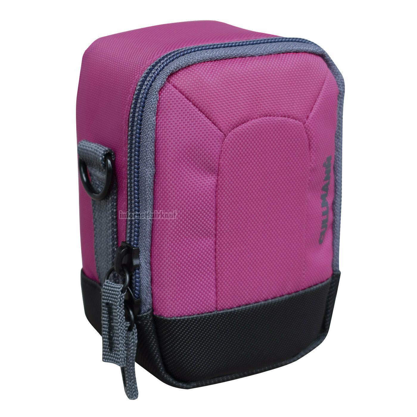 Kameratasche purple passend für Panasonic Lumix DMC-TZ81 DC-TZ91 DC-TZ96