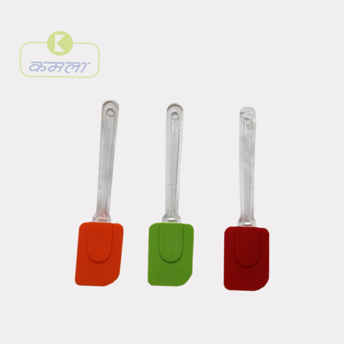 """Silicon Spatula Plastic Handle 10"""""""