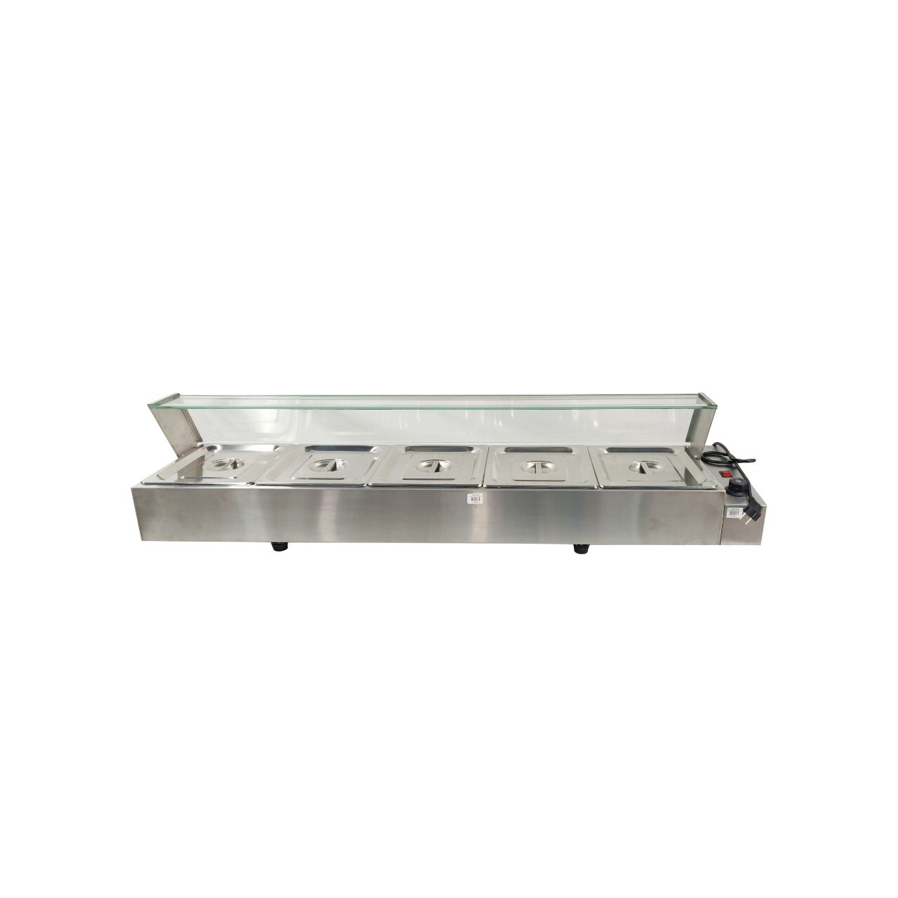 Bain Marie 5 Pans with Glass - Table Top