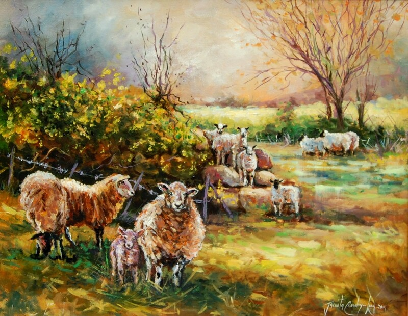 Hide and Go Sheep (16x20ins)