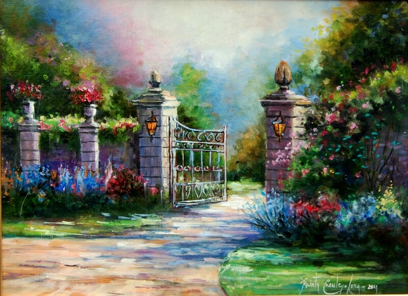 The Main Gates (12x16ins)