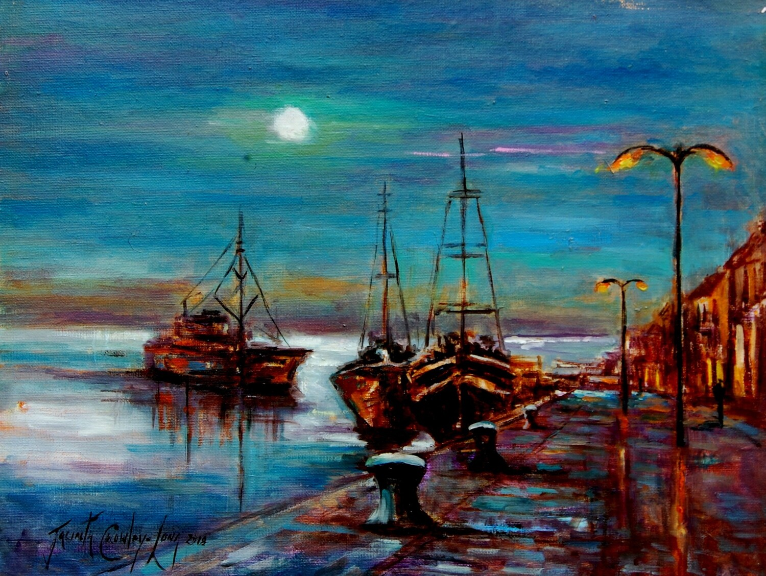 Moontide On the Quay, Wexford (14x18)