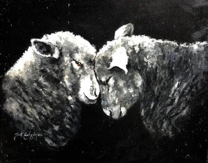 I Love Ewe (16 x 20