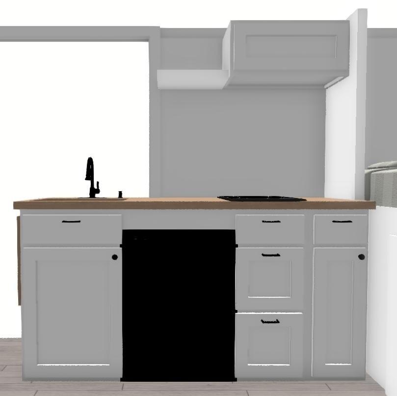 Van Conversion Kitchen Cabinet Kit for Dodge ProMaster, Sprinter, Ford Transit -Natural & Eco-Friendly