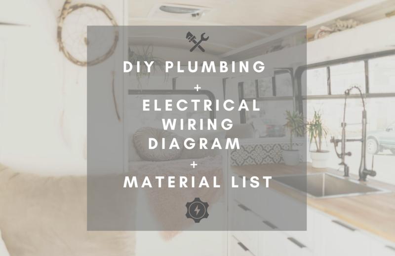 DIY Plumbing Diagram & Off-Grid Electrical Wiring Diagram & Material List for Your Van, Bus, Camper Build (FULL PACKAGE)