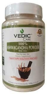 VEDIC ASHWAGANDHA ROOT POWDER 100GM