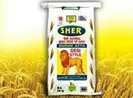 SHER WHOLE WHEAT ATTA 20LB