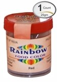RAINBOW RED FOOD COLOR 25 GM