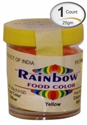 RAINBOW YELLOW FOOD COLOR 25 GM