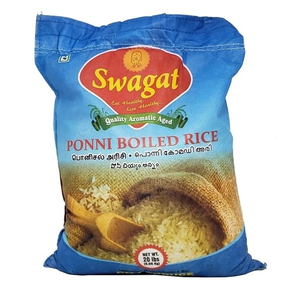 SWAGAT PONNI BOILED RICE 20lb