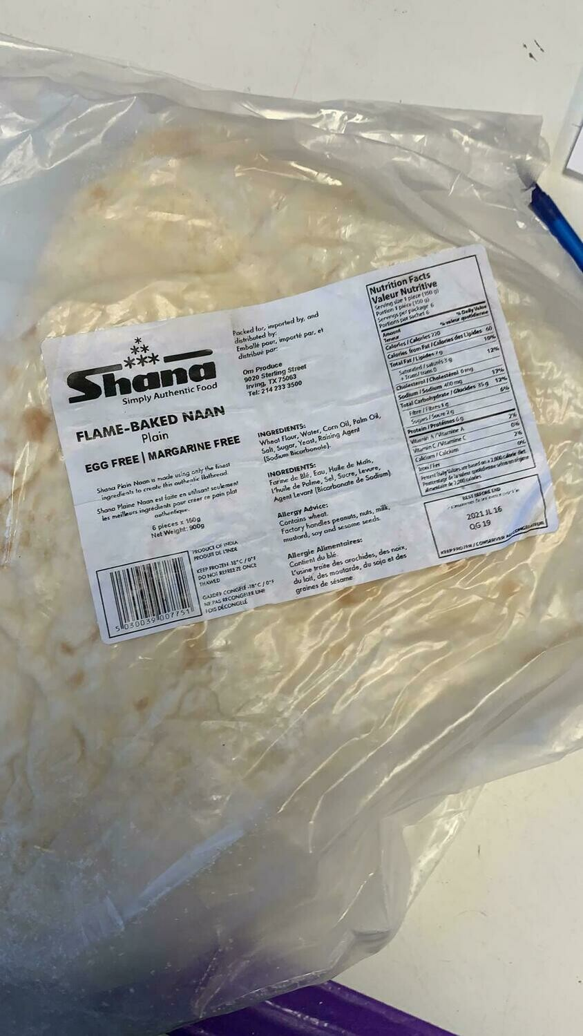 SHANA JUMBO PLAIN NAAN 6pc