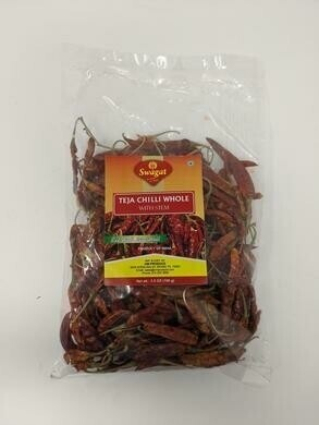 SWAGAT TEJA CHILI WHOLE WITH STEM 400gm