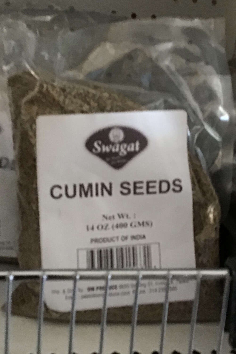 SWAGAT CUMIN SEEDS 400gm