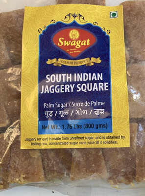 SWAGAT SOUTH INDIAN JAGGERY SQUARE 1.00 YELLOW 400 GM