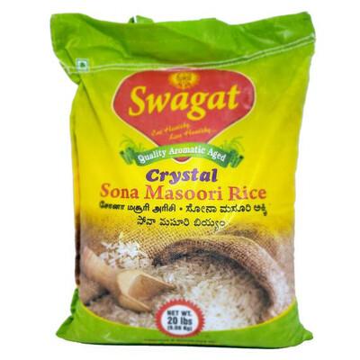 SWAGAT CRYSTAL RICE 20 LB