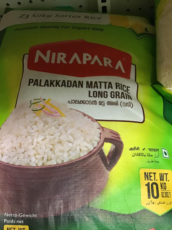 NIRAPARA PALAKKADAN MATTA RICE GREEN 10kg