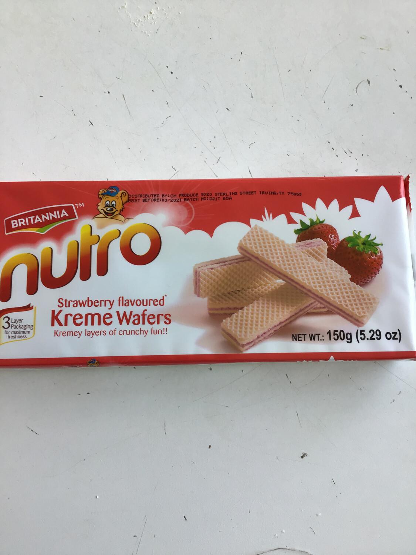 NUTRO WAFFERS STRAWBERRY 150g