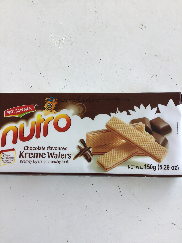 NUTRO WAFFERS  CHOCOLATE 150gm