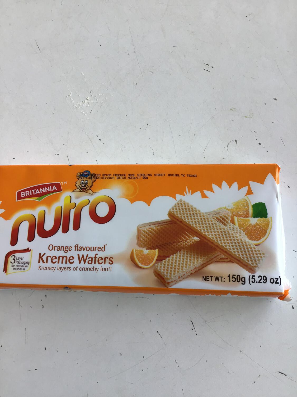 NUTRO WAFFERS ORANGE 150gm