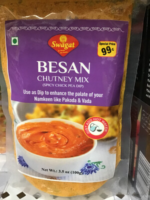 SWAGAT BESAN CHUTNEY MIX (SPICY)  100gm