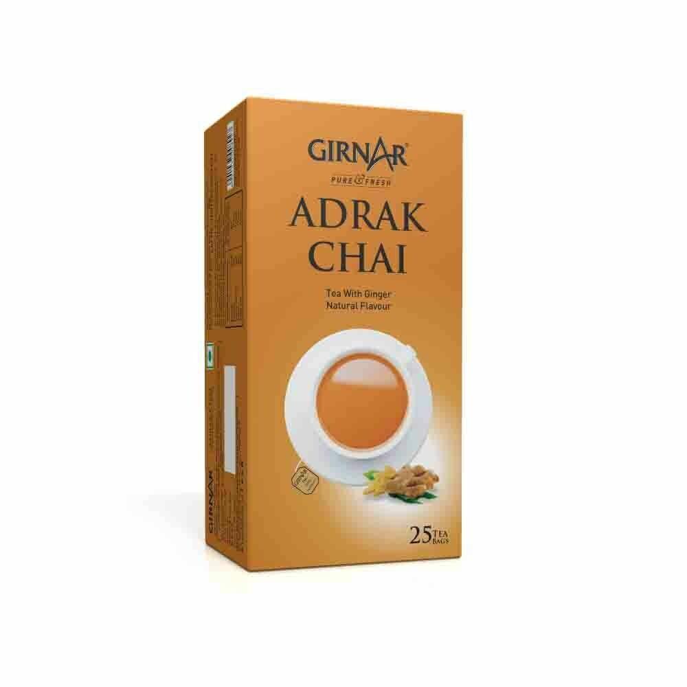 GIRNAR ADRAK CHAI TEA BAGS (GINGER ) 25 TBG