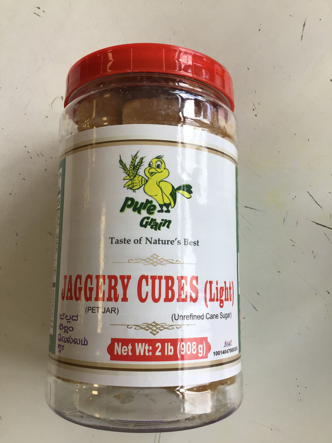 PURE GRAIN JAGGERY LIGHT CUBE IN JAR