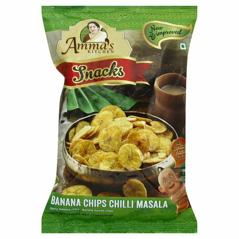 AMMAS BANANA CHIPS CHILI MASALA 200 GM