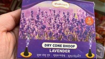 SHUBHKART DRY CONE DHOOP LAVENDER (30gm)