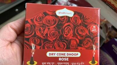 SHUBHKART DRY CONE DHOOP ROSE (30gm)