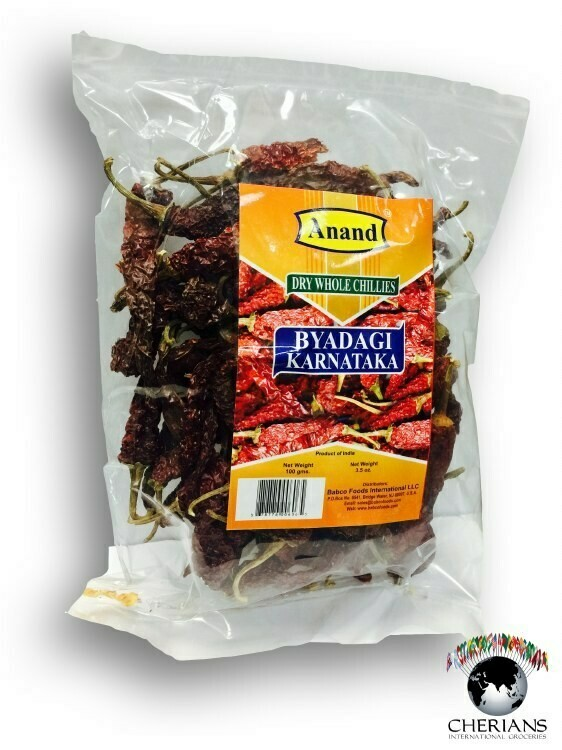 Anand Bedagi Karnataka Dry Whole Chillies 400gm