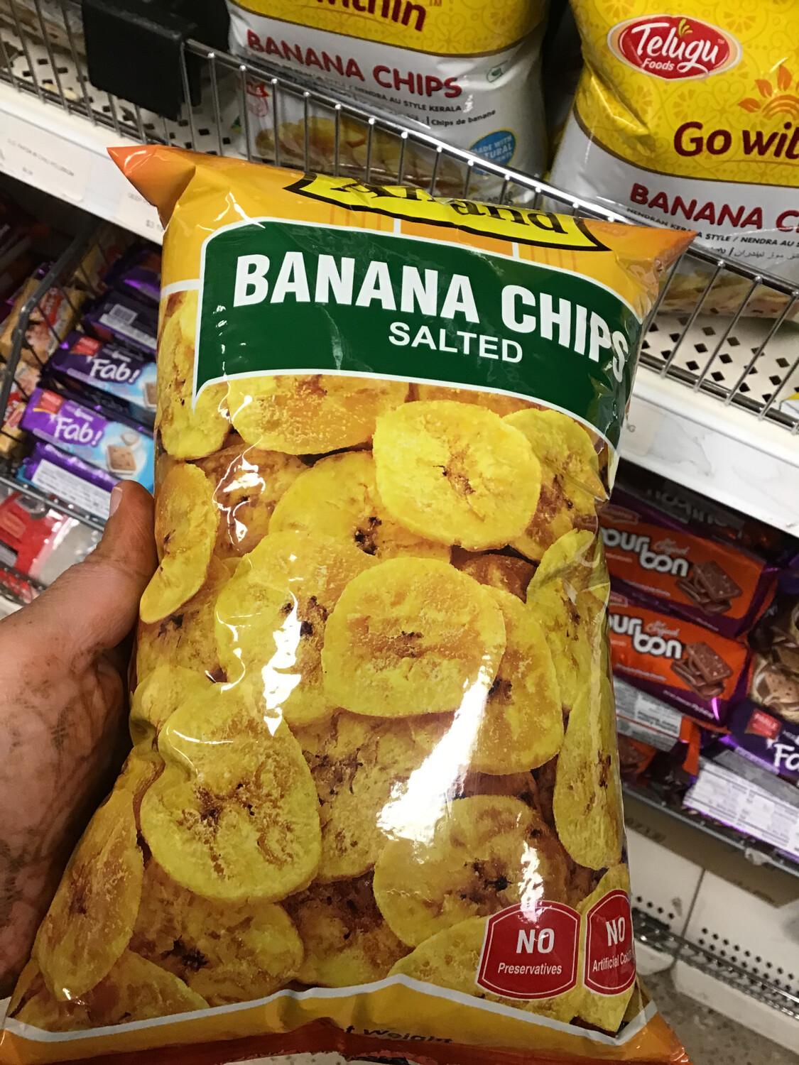 ANAND BANANA CHIPS SALTED 400GM