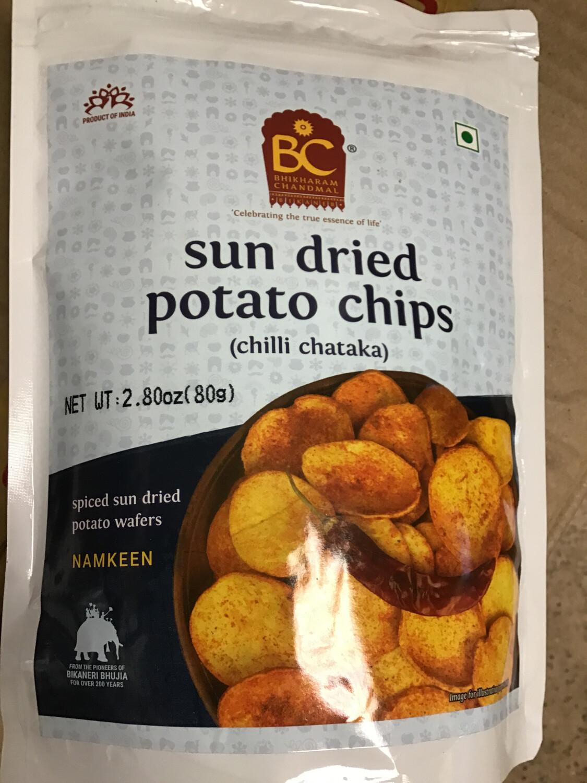 BC SUN DRIED POTATO CHIPS (ALOO CHILI CHATAKA) 80