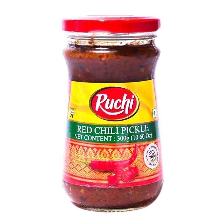 RUCHI MAGIC PICKLE RED CHILI 300 GM
