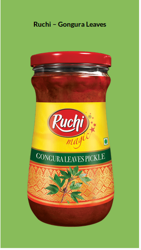 RUCHI MAGIC PICKLE GONGURA LEAVES 300 GM