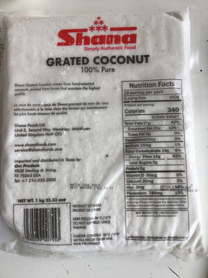 SHANA GRATED COCONUT 2.2lb