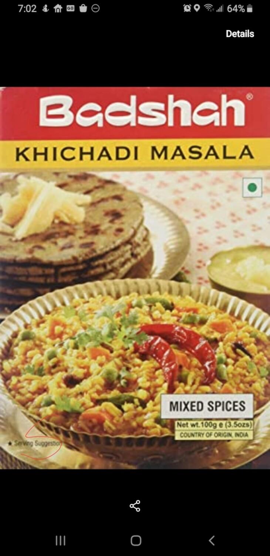 BADSHAH KHICHADI MASALA 100GM
