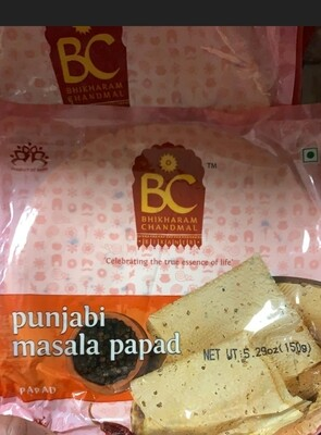 BC PUNJABI MASALA PAPAD 150 GM